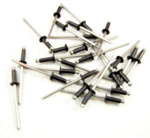 "25 Pack 1/8"" X 1/4"" Steel Rivets With Black Finish  RB125/250-S"