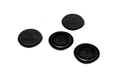 4 - NEW Genuine CAPLUGS Brand Flexible 29-30mm Black Plastic Hole Plugs BPF-29MM
