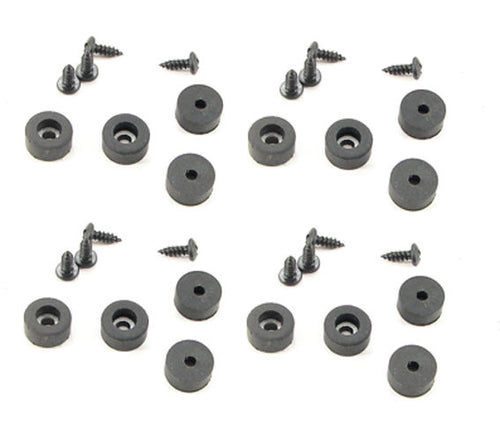 16 Pack  Rubber Feet - Bumpers 1/2