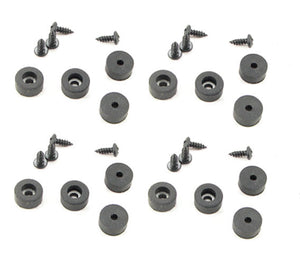 "16 Pack  Rubber Feet - Bumpers 1/2"" Dia. x 1/4"" Tall-With Screws  F5250"