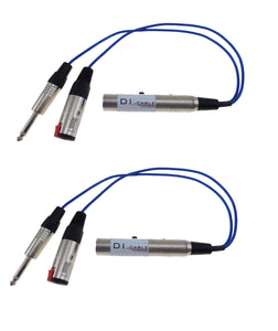 2 Pack Sunrise Direct Interface Cable- Instrument to Balanced and Parallel Out