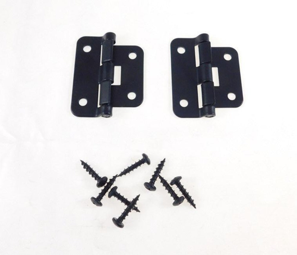 2 Geniune Penn Elcom P0625K Black Take-Apart /2 Piece Lift Off Hinge W/ Screws