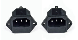 2 Pack AC Power IEC Standard C-14  Inlet Connector W/Fuse Holder    SP-862