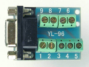 9 Pin VGA DB-9 Break-out Board, Male to Terminals     31304