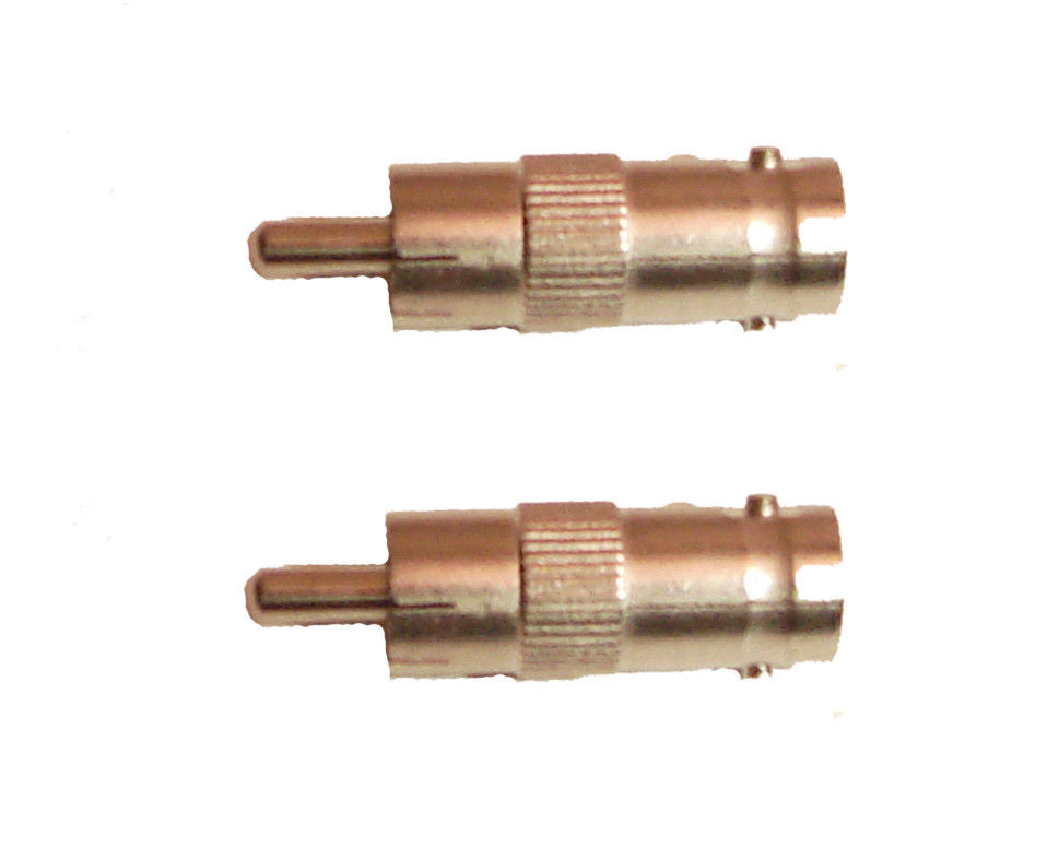 2 Pack RCA Male to Female BNC Adapter   AA129