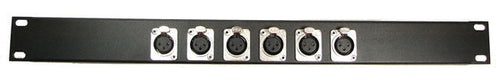 1U Procraft 6 Channel Female XLR Rack Panel     AFP1U-6XF-BK