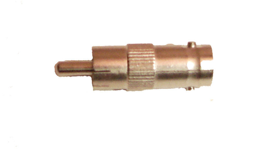 One RCA Male to Female BNC Adapter   AA129