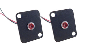 2 Pack Procraft D-Plate With 6mm 115v LED Indicator Lamp Red   D-6ZSD.X-115-R