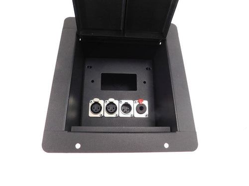 ProCraft Pro Audio Recessed Pocket Floor Box.1 Decora cutout - 4 Ch. Any Config