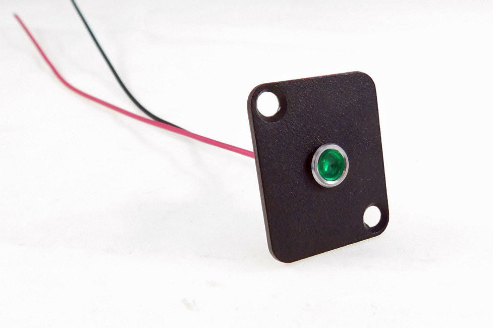 Procraft D-Plate With 6mm 115v LED Indicator Lamp Green    D-6ZSD.X-115-G