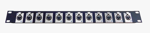1U Procraft 12 Channel Female D3F Style Procraft XLR Rack Panel   AFP1U-12FS-BK