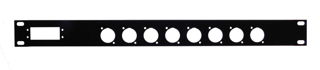 Procraft 1U 16 ga. Formed Aluminum Rack Panel - One 56 Pin Elco/Edac & 8 XLR's