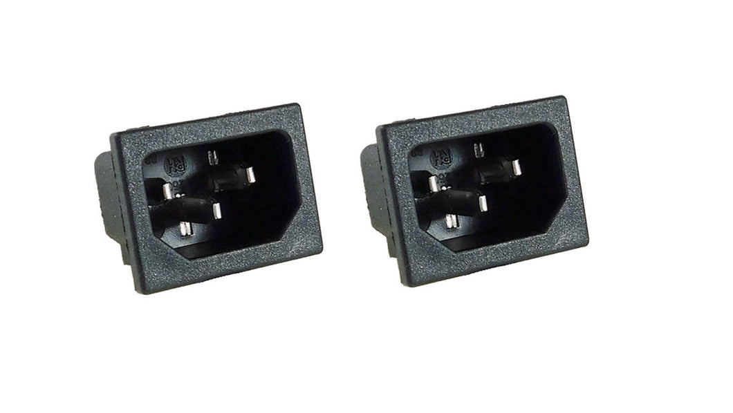 2 Pack AC Power IEC Standard C-14 Inlet Connector Snap-In R-301SN