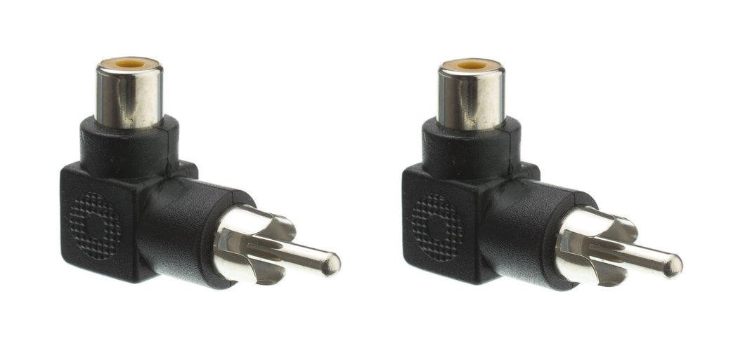 2 Pack RCA, Right Angle Adapter, Male to Female, 90 Degree Elbow  30R1-90300