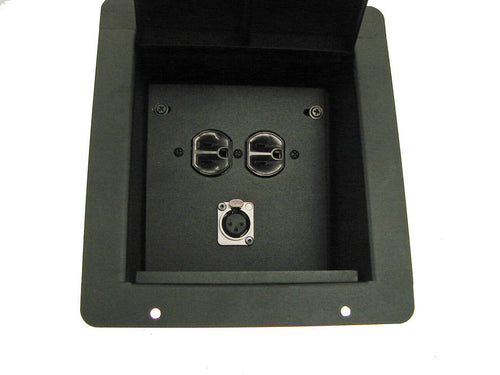 ProCraft Pro Audio Recessed Pocket Floor Box.1 AC Duplex 1 Channel Any Config