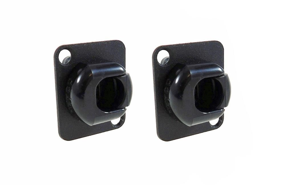 2 Pack Procraft D-Plate W/Heyco 7P-2 Cord Grip 0.36