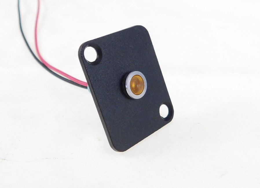 Procraft D-Plate With 6mm 115v LED Indicator Lamp Yellow    D-6ZSD.X-115-Y