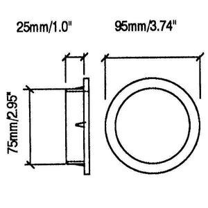 "2 Pack  3"" Penn Elcom Port Trim Rings-Heavy Duty Plastic   M1533"
