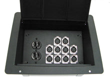 Load image into Gallery viewer, ProCraft Pro Audio Recessed Pocket Floor Box.1 AC Duplex 10 Channels Any Configs