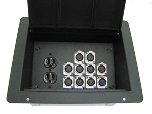 ProCraft Pro Audio Recessed Pocket Floor Box.1 AC Duplex 10 Channels Any Configs