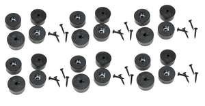 "24 NEW Penn Elcom Amp Rubber Feet / Speaker Foot Bumper 1 1/2"" X 3/4""  F1686/20"
