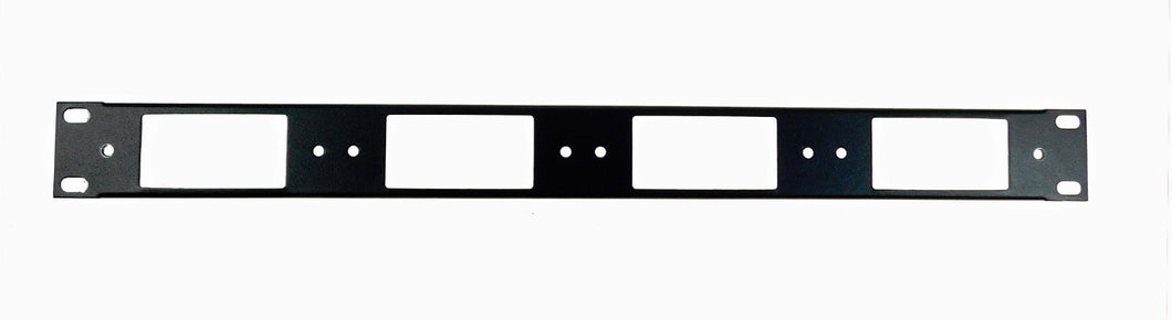 1U Procraft Decora AV 16 ga. Formed Aluminum Rack Panel - Four Inserts
