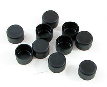 "Load image into Gallery viewer, 10 Pack 5/16"" Plastic Socket Head Cap Screw Cover - Black    PSHSC-312"
