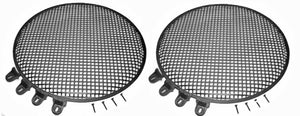 "2 Heavy Duty Steel Penn Elcom Subwoofer 15"" Round Waffle Grill Cover W/ Hardware"