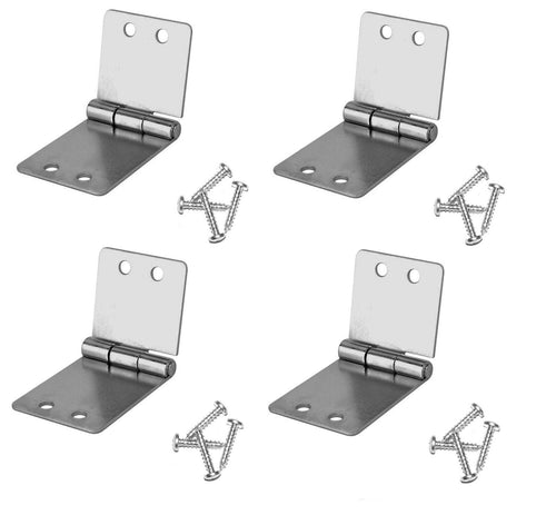 4 Pack Penn Elcom 1535 Small Butt Hinge with Screws - Zinc Finish
