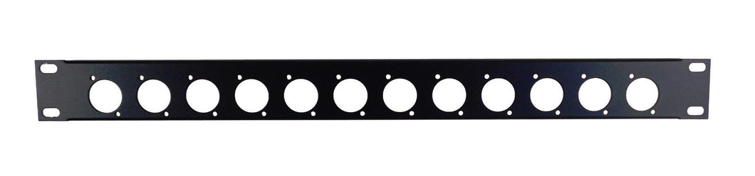 Procraft Formed Aluminum Rack Panel - Pre-Punched - 12 Switchcraft Style Female