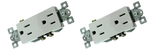 2 Pack RPP White Duplex Decora mounted  33794