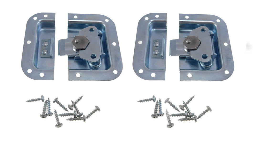 2 Pack Zinc Finish Medium Recessed Butterfly Latch -Rack-Pedal Board Cases A3020