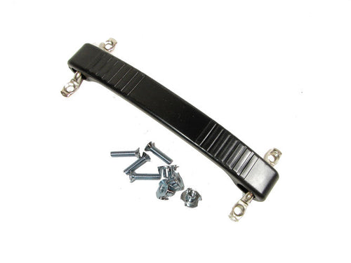 Black Rubber Strap Handle Fender Amp Replacement Dog bone W/Mtg. Hardware 0394BK