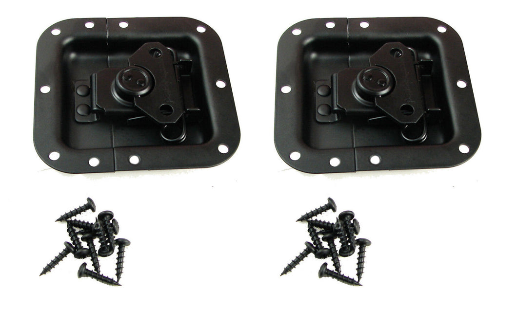 2 Pack Penn-Elcom L905/915K Recessed Butterfly Latch- Black Powder Coat