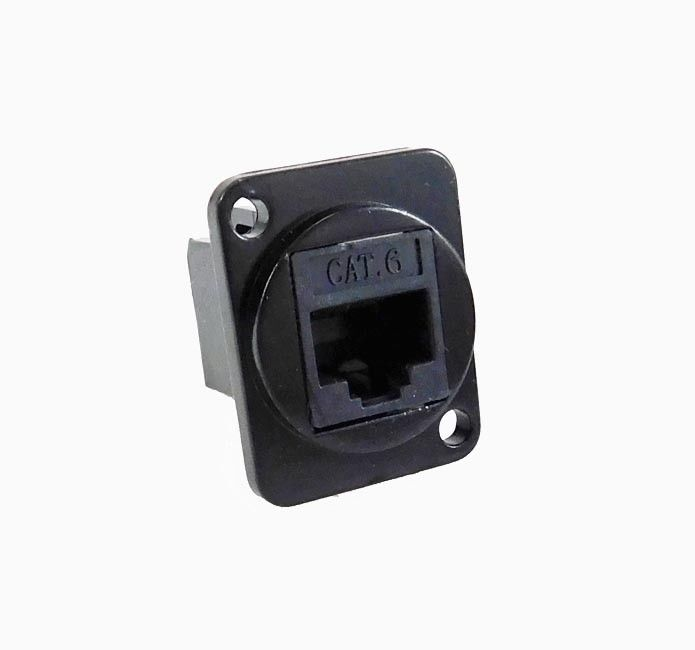 Panel Mount D type XLR CAT6E Feedthru - metal connector   LY-513