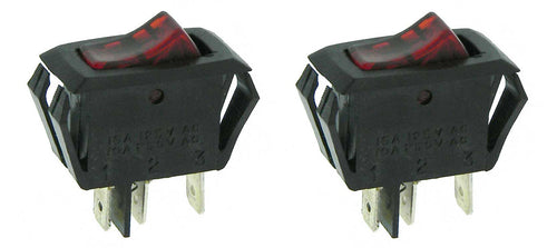 2 Pack Lighted Rocker Switch 16 Amp 125 VAC   34273