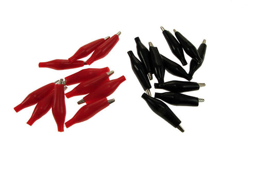 20 Pack 35mm Alligator Clips Test Probe Battery Clamp Black & Red  ABS201