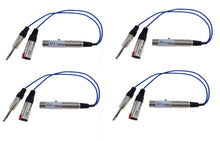 Load image into Gallery viewer, 4 Pack Sunrise Direct Interface Cable- Instrument to Balanced and Parallel Out