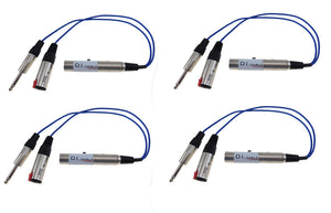 4 Pack Sunrise Direct Interface Cable- Instrument to Balanced and Parallel Out