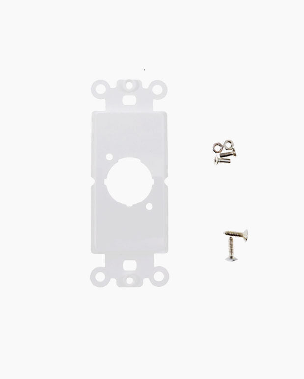 Decora Wall Plate Insert, White, One XLR Unloaded Neutrik