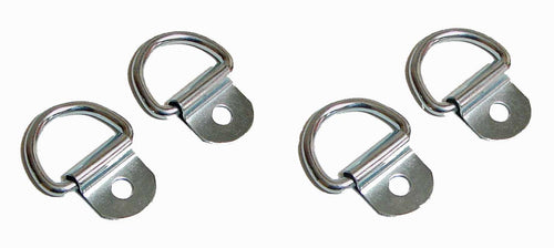 4 Pack Steel D-Ring 1/8