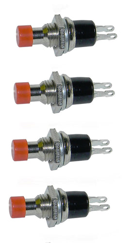 4 Pack SPST Normally Open Momentary Push Button Switch Red     25019 SW