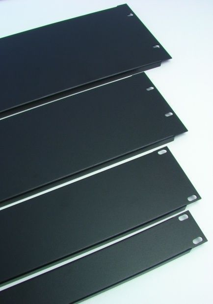 4 Space Formed 1.2mm Steel 4U Rack Panel- Black    SRP-4