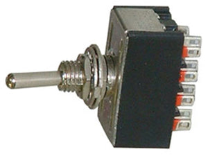 One Miniature DPDT Toggle Switche 3 Position ON-OFF-ON 16078