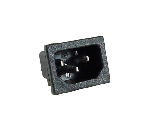 One AC Power IEC Standard C-14 Inlet Connector Snap-In          R-301SN
