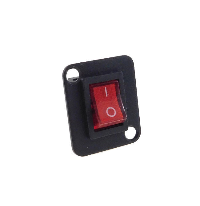 Procraft D-Plate With CQC DPST 10 Amp Illuminated Red Rocker Swtch    D-T85/55