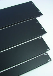 2 Space 2U Formed 1.2mm Steel Rack Panel-Black  SRP-2