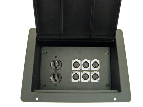 ProCraft Pro Audio Recessed Stage Floor Box.1 AC Duplex 6 Channels Any Configs