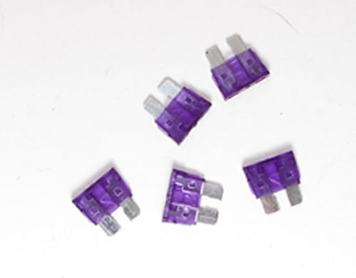 Set of Five - 3 Amp Fuses    F9003