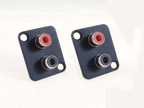 2 Pack Panel Mount D type XLR Dual RCA Solder Type Jacks    D-DUALRCA